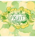 Fruit background with doodle elements vector image