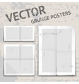 grunge posters vector image vector image
