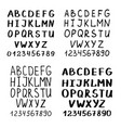 Handwriting font or calligraphy latin alphabet