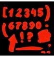 Handwritten numbers vector image