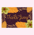 happy thanksgiving day hand drawn typography vector image