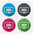 HD widescreen tv High-definition symbol vector image