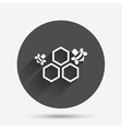 Honeycomb sign icon Honey cells symbol vector image vector image