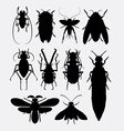 Insect bug small animal silhouette 1 vector image vector image