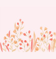 isolated yellow pink flower and leaf wedding vector image