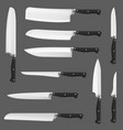 knife realistic kitchen chef or butcher cleavers vector image