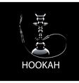 logo hookah vector image vector image