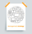 management set line art icons vector image