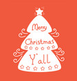 merry christmas background with tree vector image