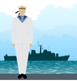 Military Uniform Navy sailor-4 vector image vector image