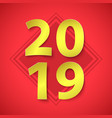 new year 2019 background cut paper vector image vector image
