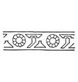 persian design has been strong in metalworking vector image vector image