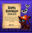 poster on theme halloween holiday sketch vector image vector image