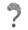 question mark symbol vector image vector image