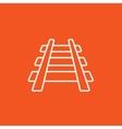 Railway track line icon vector image
