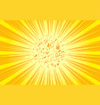 retro comic rays yellow dots background in pop vector image