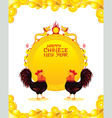 Roosters Chinese New Year Frame vector image vector image