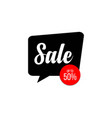 sale up to 50 off template design vector image vector image
