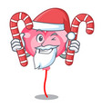 santa with candy ballon heart mascot cartoon vector image