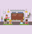 school concept in flat style vector image