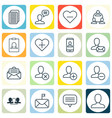 set of 16 social icons includes significant vector image vector image