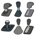 set of car transmission vector image