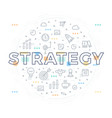 strategy concept vector image