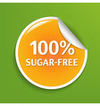 Sugar Free Label vector image