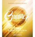 Summer party Template poster vector image vector image