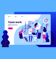 teamwork concept people working together smart vector image vector image