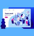 teamwork concept people working together smart vector image