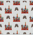 traditional symbols of russia hand drawing vector image vector image