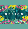 tropical austalia design leaves and flowers