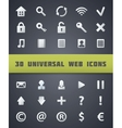 Universal Web Icons vector image vector image