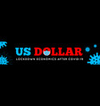 us dollar in a medical mask in fight against vector image