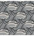 Vintage seamless ocean waves pattern vector image