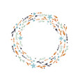 watercolor abstract floral wreath vector image vector image