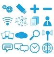 Web flat icons set vector image vector image