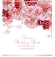 wedding invitation with floral design vector image