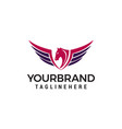 wing horse logo design concept template vector image vector image