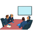 working business meeting in meeting room vector image vector image