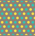 yellow and blue polka dots on gray background vector image vector image