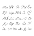 Doodle font isolated on white vector image