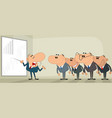 successful business presentation vector image