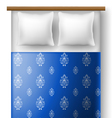 Bed from top view with pillows vector image
