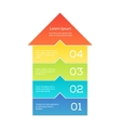 Up arrow infographic vector image