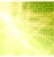 Yellow-green background with maze vector image