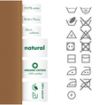 Collection of clothing and Laundry labels vector image