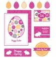 abstract textured bubbles set of Easter vector image vector image