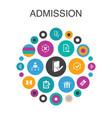 admission infographic circle concept smart ui